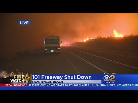 Thomas Fire Forces New Evacuations, Highway 101 Closed
