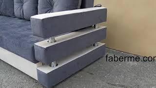 Еврокнижка  диван Зеон от компании Фаберме - видео 1