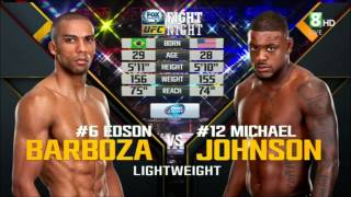 UFC Fight Night 61 HDTV Edson Barboza vs Michael Johnson full fight in the link!