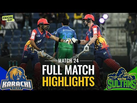PSL2019 MATCH 24: Karachi Kings and Multan Sultans | Caltex Full Match Highlights