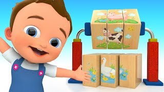 Baby Learn Farm Animal Names with Wooden Toy Puzzle Matching for Kids Children Toddler Educational