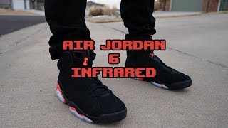 buy popular 897ae c57ab Download Nike Air Jordan 6 Infrared On Foot Review Youtube ...