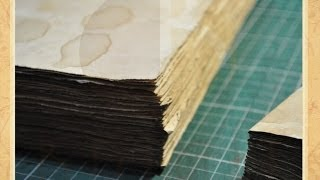 Como Envelhecer Papel #1 - DIY - Estúdio Brigit