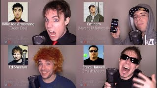 ONE GUY 23 VOICES <b>Tyler Joseph</b> Ed Sheeran Freddie Mercury Famous Singer Impressions