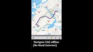 Driving Map without internet in Dubai / Abu Dhabi / Sharjah / - STV