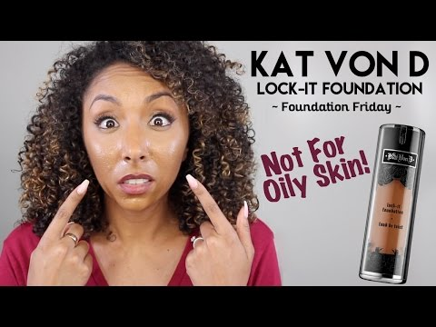 KAT VON D Lock-It Foundation Review! NOT FOR OILY SKIN! | BiancaReneeToday