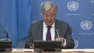 UN Secretary General and World Meteorological Organization Sec Gen discuss climate science