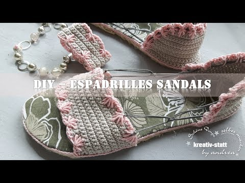 DIY Espadrilles- Crochet Sandals on Sisal Soles - Street Shoes - How To