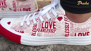 Converse Chuck Taylor All Star Love Fearlessly - Egret/University Red/White - 567311C