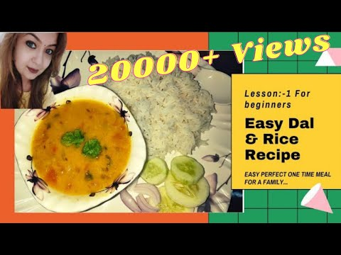 Lesson#1:- Online Cooking Classes For Beginners // Easy Dal & Rice Recipe (दाल चावल) in Hindi