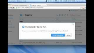 Dropbox: How To Permanently Delete A File