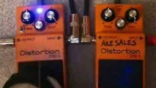 Boss DS-1 with Keeley Type Mod
