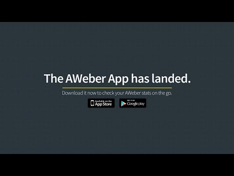 Video of AWeber Email Stats on the Go