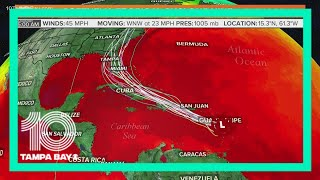 Potential Tropical Cyclone Nine forecast to become Tropical Storm Isaias today: 6 a.m. Wednesday