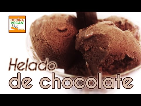 Helado de chocolate (vegano) - Cocina Vegan Fácil