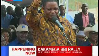 Former Speaker Kenneth Marende addresses BBI rally similar to a parliamentary session