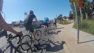Bikes Not Bombs bikeathon, 2016 - 50-mile route (GoPro)