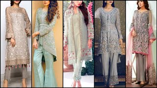 Latest Stylish Chiffon And Silk Wedding Dresses For Girls 2k20