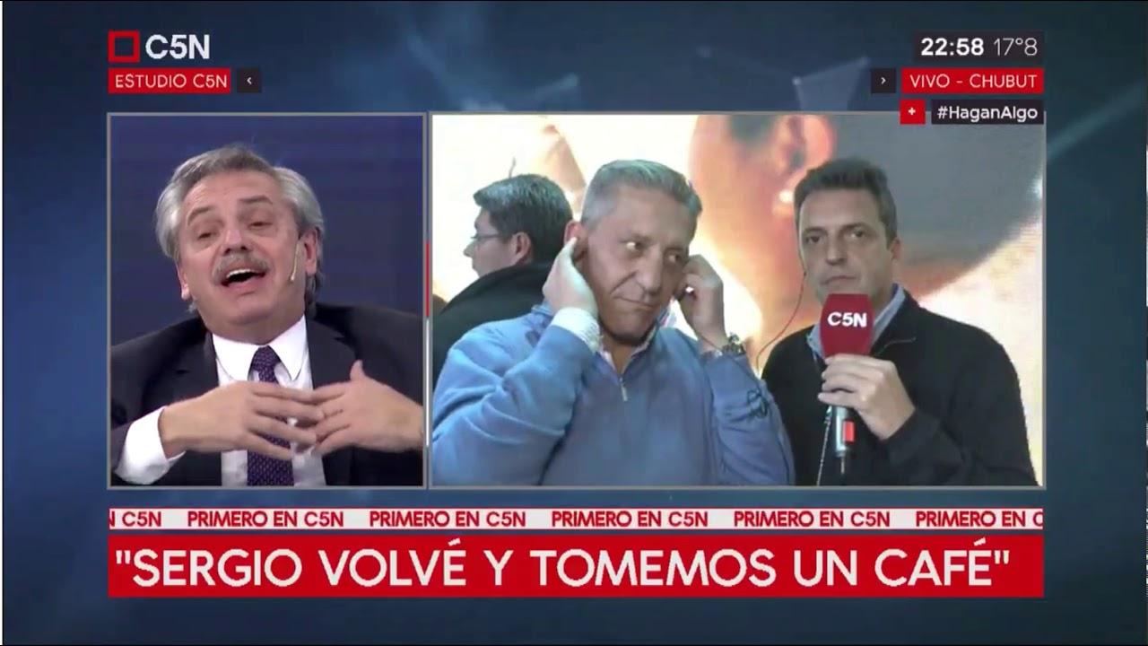 """Alberto Fernández y Massa se cruzaron en TV: """"Tomemos un café"""""""