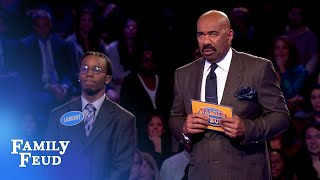 He gets 187 points! Then THIS happens... | Family Feud