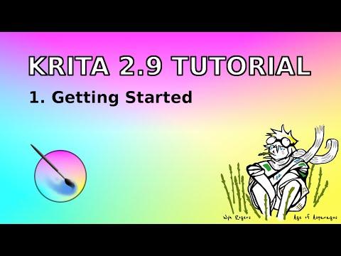 Krita  tutorial