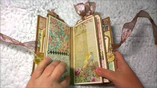 Girl Scout Cookies Mini Book ~ Upcycled From A Girl Scout Cookie Box
