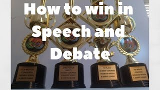 How to win at Speech and Debate Tournaments (5 easy steps)