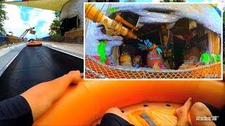 [4K] Raft Water Slide Ride - Miss Adventure Falls POV - Disney
