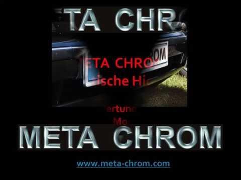 META CHROM® Kennzeichenhalter