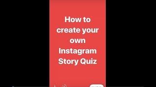 Instagram Stories Quiz Template Tutorial