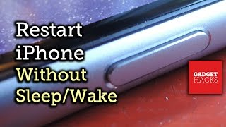 Restart Your iPhone Without the Sleep/Wake Button (AKA Power Button) [How-To]