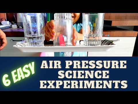 6 Easy Air Pressure Science Experiments for Kids | Easy Science Experiments for Kids