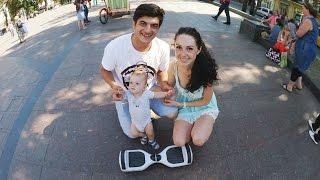 Катаемся с малышом и Деругой на гироскутере