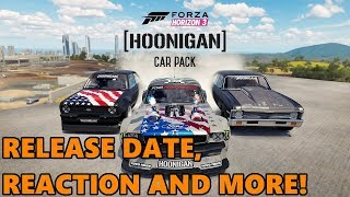 Forza Horizon 3 HOONIGAN CAR PACK!! LIVE REACTION + NEW CARS, RELEASE DATE!
