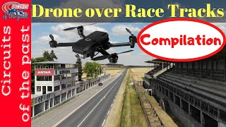 Drone over Race Track Compilation (Operational and Abandoned Race Tracks)