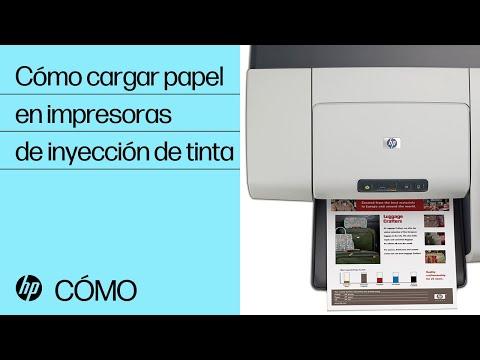 Carga de papel en su impresora de inyección de tinta