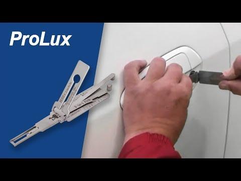 ProLux Öffnungswerkzeuge - Fahrzeugschließzylinder mit Innen- und Außenbahnführung öffnen