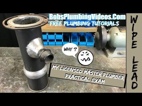 Licensed Master Plumber / Practical Test - YouTube
