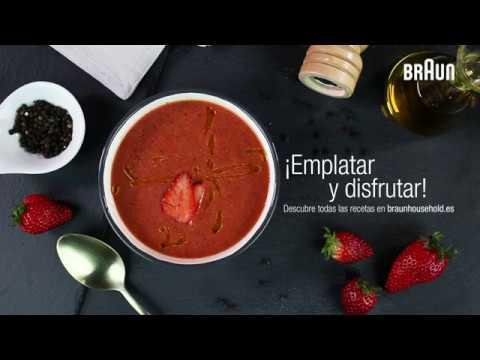 Receta de gazpacho de fresas | Braun Minipimer