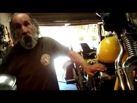 How to set the points and timing on an old Harley Davidson Big Twin.