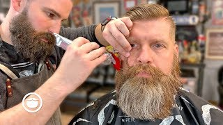Veteran Gets Transformational Beard Trim & Haircut | The Dapper Den Barbershop