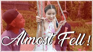 I ALMOST FELL FROM THE SWING! (BALI VLOG) | JAMIE CHUA
