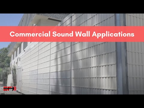 Commercial Development and Construction Sound Wall Applications