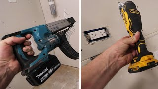 Insanely FAST & EASY Way To Cut & Screw Drywall FINALLY!