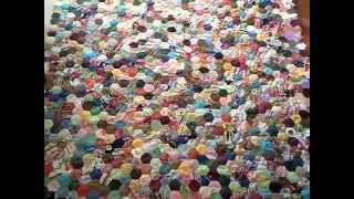 HOW MY SCRAPPY FABRIC HEXAGON QUILT IS PROGESSING