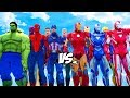 Download Video THE AVENGERS VS IRON MAN ARMY - CAPTAIN AMERICA, HULK, SPIDER-MAN, HAWKEYE, THE VISION VS IRON MAN