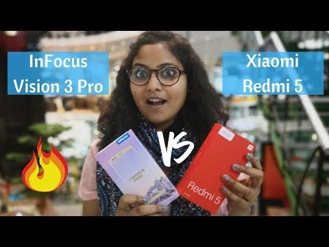 Xiaomi Redmi 5 VS InFocus Vision 3 Pro | Hindi