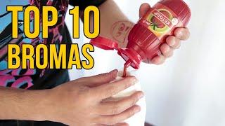 TOP 10 BROMAS 2019 - Bromas para hacer a tus amigos (Recopilación)