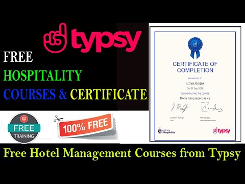 Free Hospitality Courses Online with Certificate | Hotel Management ...