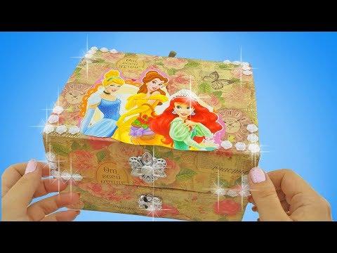 🎁Сюрпризы в сундучке. Куклы ЛОЛ. Принцессы. Барби. 🎀 Украшения 💍. Распаковываем коробку с игрушками
